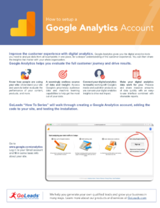How To Setup Google Analytic Account